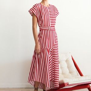 Rachel Comey Steady Red/White Striped Dress